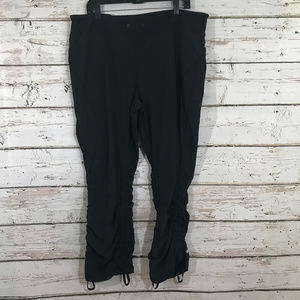 Zella Black Pants with Side Drawstrings